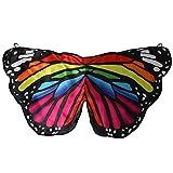 Girls Satin Fabric Monarch Butterfly Rainbow Wings