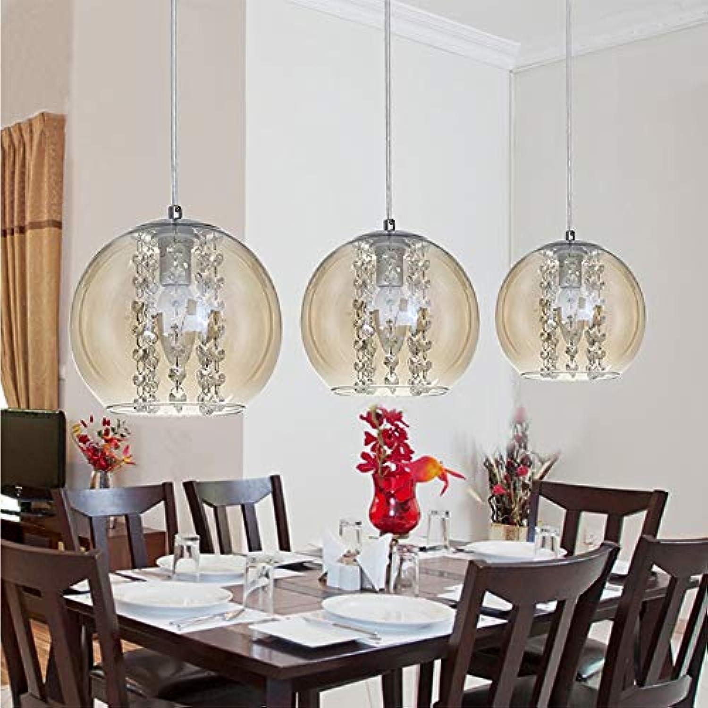 Esszimmer glas ball pendelleuchte mode moderne diy home deco wohnzimmer kristall e14 pendelleuchte,Amber,Singlehead