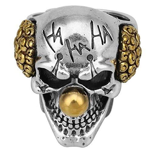 Anello con testa di teschio, da uomo, con teschio, stile gotico, per cocktail, feste, stile vampiro, anello di Halloween Biker, gioiello vintage punk, regalo per uomini e ragazzi e Lega, 21.4