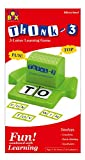 THINK - 3 3 Letter learning game ( Develops . Creativity . Quick thinking . Vocabulary Ages 3 + CONTENTS ; 1 Plastic stand , 72 letters tiles , 40 word cards . HOW TO PLAY 1 - scrable the letters and load the stand .2 - Put the cover back on the stan...