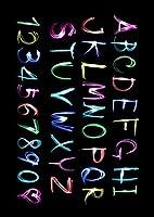 igsticker ポスター ウォールステッカー シール式ステッカー 飾り 841×1189㎜ A0 写真 フォト 壁 インテリア おしゃれ 剥がせる wall sticker poster 000026 クール アルファベット カラフル 黒