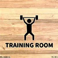 筋トレ・運動好きに❤トレーニングルームステッカーシール【マッチョ・筋肉】 (赤)
