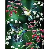 5D DIY diamante pintura Animal pájaro gorrión conjunto de bordado de diamantes mosaico arte imagen Mural decoración del hogar pintura hecha a mano A12 45x60cm