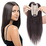 [page_title]-TESS Pony Haarteil Clip in Extensions Echthaar Toupee Haarverlängerung Lace Front Closure Toupet für Frauen 12'(30cm) 30g #1B Naturschwarz