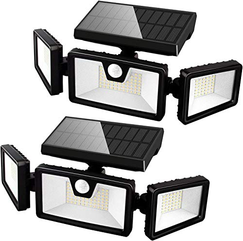 Otdair Solar Security Lights, 3 Head...