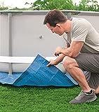 WJY Cubierta de Piscina Rectangular Pie Protector sobre El Suelo Protección Azul Accesorios de Cubierta Solar para Piscina Al Aire Libre Cubierta de Piscina Impermeable a Prueba de Polvo (Size : A)