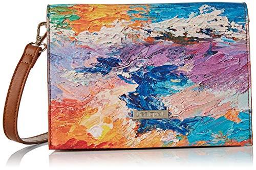 Desigual Bag Landscape Nimbus Imperia Women - Borse a tracolla Donna, Multicolore, 10x16x23 cm