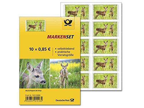 Markenset 10er 85 Cent Tierkinder Reh selbstklebend Standardbrief