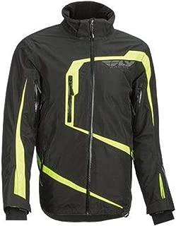FLY RACING Carbon Jacket, Black/Hi-Vis 2XL