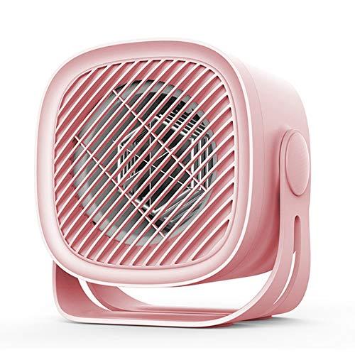 ASDF Portátil Calefactor Eléctrico 400W, Mini Calentador Ventilador,Mini Ventilador Calentador Espacio para Escritorio Oficina En Casa,Pink