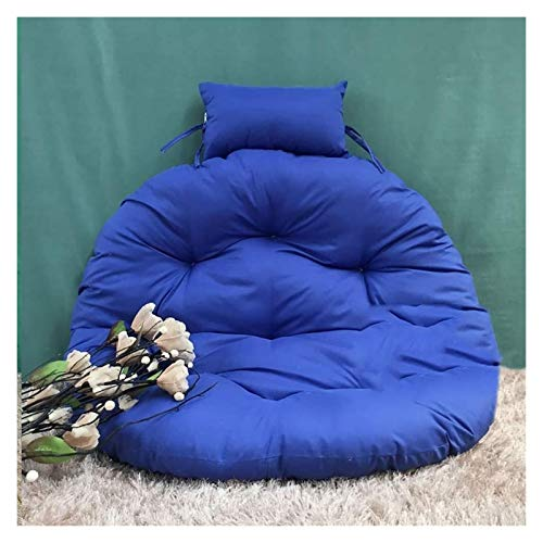 Chair Cushions Without Stand Multi Color Swing Seat pads Thick Nest Hanging Chair Back With Pillow a (Color : F, Size : D105cm(41inch))