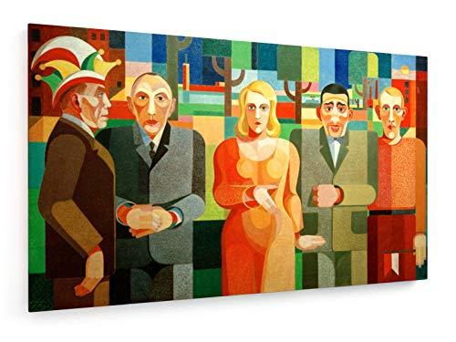 Heinrich Hoerle - Kölner Zeitgenossen - 50x30 cm - Textil-Leinwandbild auf Keilrahmen - Wand-Bild - Kunst, Gemälde, Foto, Bild auf Leinwand - Alte Meister/Museum