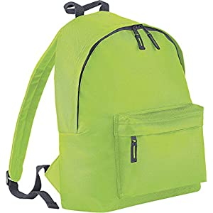 51CYfD6246L. SS300  - BagBase - Mochila casual  Lime Green-Graphite grey