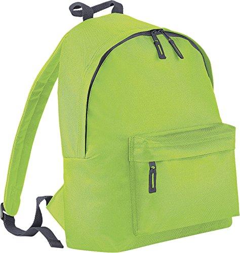 51CYfD6246L - BagBase - Mochila casual  Lime Green-Graphite grey