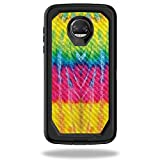 MightySkins Carbon Fiber Skin for OtterBox Defender Motorola Moto Z2 Force - Tie Dye 2 | Protective, Durable Textured Carbon Fiber Finish | Easy to Apply, Remove, and Change Styles | Made in The USA