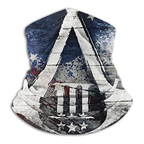American Flag A-ssassin C-Reed Face Scarf Cover Balaclava Ski Mask - Sun Dust Bandanas for Outdoor Sports