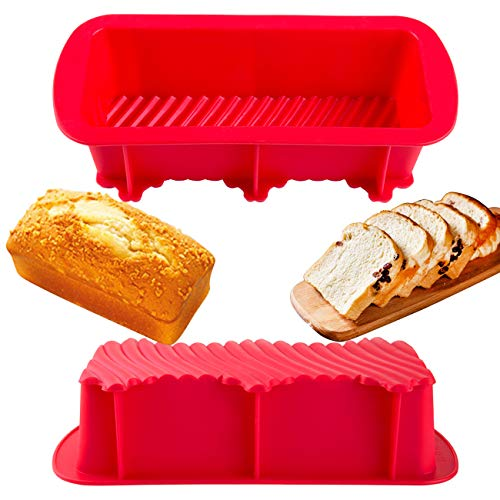 LIHAO パウンドケーキ型 シリコン 長方形 27x12x6cm