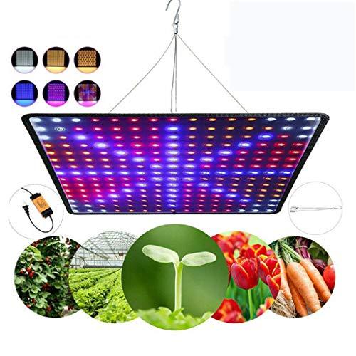 Plant Grow Light, 225 Pcs LEDs Lumière De Croissance Avancée À Spectre Complet Rouge Bleu Élèvent des Lumières pour Plantes D'intérieur Lampes De Croissance De Fleurs De Légumes,Red+Blue+White+Orange