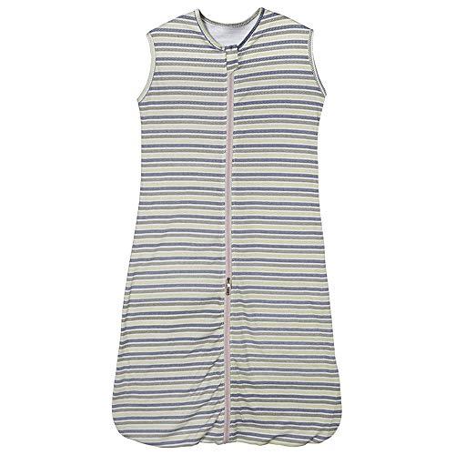 Saco de dormir para bebé de verano, 0,5 tog, para niñas y niños, recién nacidos (18-36 meses), diseño de rayas de colores