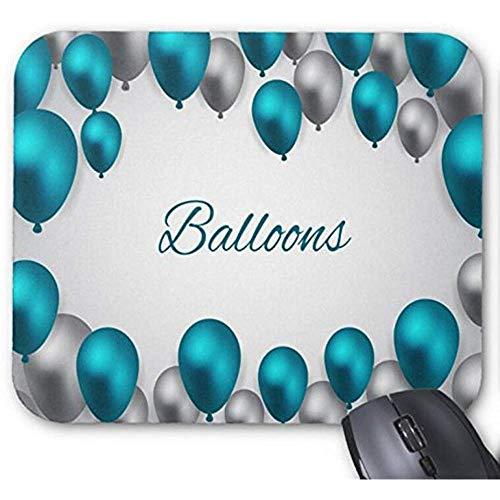 Mousepad zilveren en blauwe ballonnen Vector print muismat
