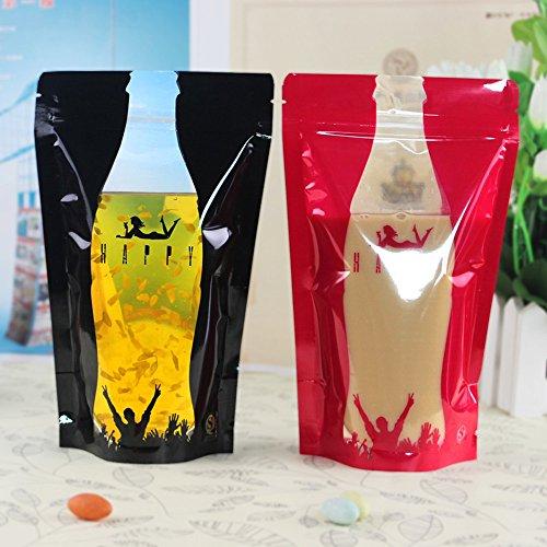 Vol dromen J.C 12cm*20cm Kleurrijke Drinkzakken Stand-Up Vloeibare Rits Sap Koffie Water Drink Melk Thee Verpakking 50 Stks