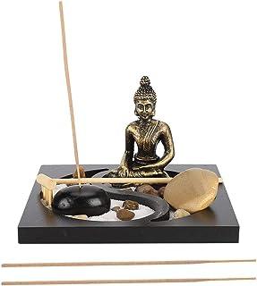 Buda de Estilo Zen decoración de Bandeja de Arena Innovador hogar Adorno de Sala de Estar artesanía de Resina decorac...