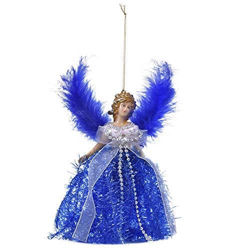 Wintesty Mini Engel Weihnachtsbaum - Anhänger mit Federflügeln für Weihnachtsschmuck Baum Ornament Regular