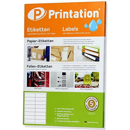 Etiketten 99,1 x 34 mm WEERBESTENDIG wit mat op A4-2 x 8 stuks/pagina - folieetiketten 99,1x34