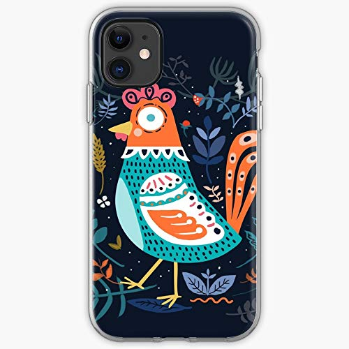 Chicken Decoration Flowers Home Design Blue Roster Decorative Interior | Phone Case for iPhone 11, iPhone 11 Pro, iPhone XR, iPhone 7/8 / SE 2020