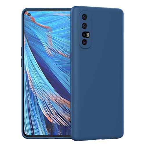 FUNMAX+ Oppo Find X2 Neo 5G Hülle Hülle, Silikon Handyhülle mit [Schutz für Kamera] [Faser-Innenraum] Anti-Scratch Dünn Schutzhülle Stoßfest Cover für Find X2 Neo (Blau)