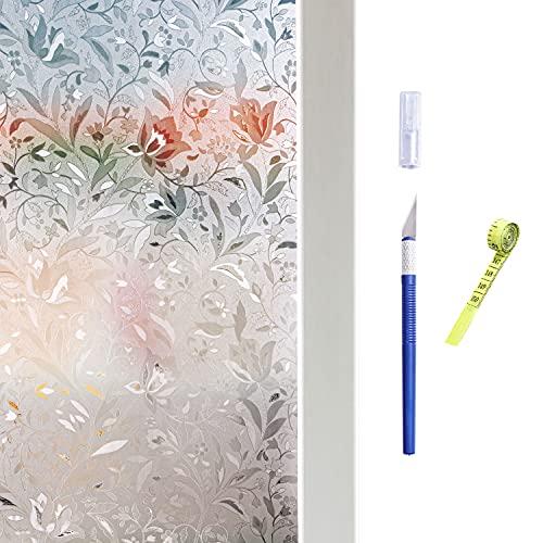 Hive secrets:Pellicola per finestre elettrostatica, protezione UV, pellicola per finestre autoadesiva, protezione della privacy, strumenti attrezzati, coltello manuale e righello morbido(30X200 cm)