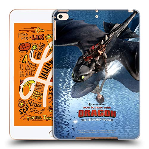 Official How To Train Your Dragon Hiccup & Toothless 2 III The Hidden World Hard Back Case Compatible for Apple iPad mini (2019)