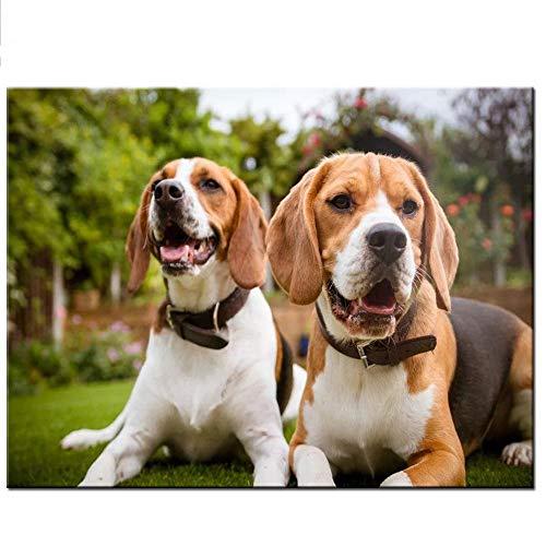 DIY de madera Puzzles grandes adultos 1000 piezas Montaña Beagle mascota decoración hogar animal perro Imagen de la decoración de la habitación Regalos de Navidad
