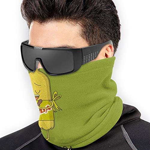 QsuNa Cartoon Backpulver, weicher Halswärmer, Gamasche, winddicht, Gesichtsschutz Bandana Sturmhaube Gesichtsabdeckung