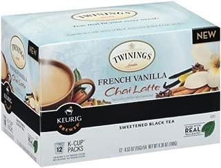 Twinings Organic K Cups French Vanilla Chai Latte Black Tea, 6.36 Ounce - 12 per pack - 6 packs per case.