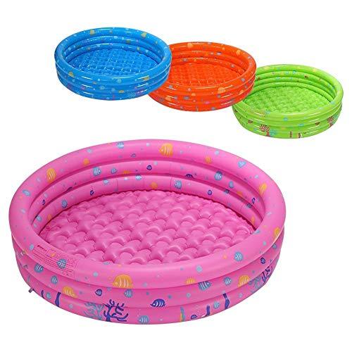 Aheadad - Piscina hinchable para niños con 3 anillas