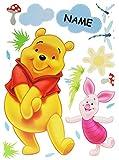 Unbekannt 17 TLG. Set XXXL - Wandtattoo Winnie The Pooh Bär mit Ferkel incl. Name - Fensterbild / Sticker - groß - Wandsticker selbstklebend Puuh Kinderzimmer