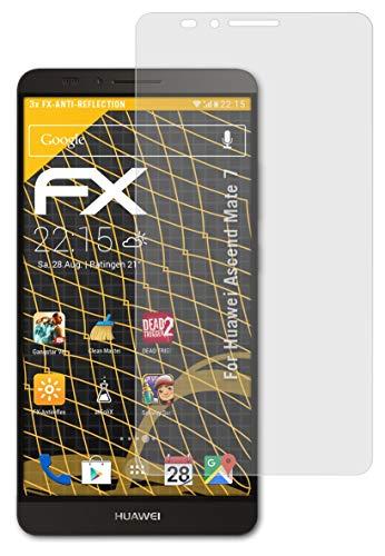 atFolix Panzerfolie kompatibel mit Huawei Ascend Mate 7 Schutzfolie, entspiegelnde & stoßdämpfende FX Folie (3X)