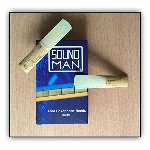 10 Ance per Sassofono Tenore Soundman® Ancia Saxo Sax Saxophone Reeds (2,0)