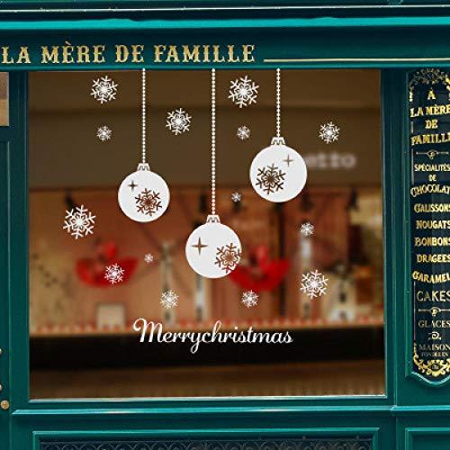 Neue Schneeflockenkette Ball Charm Frohe Weihnachten Mall Fensterglas dekorative Malerei, verschiedene Arten von Heimtextilien