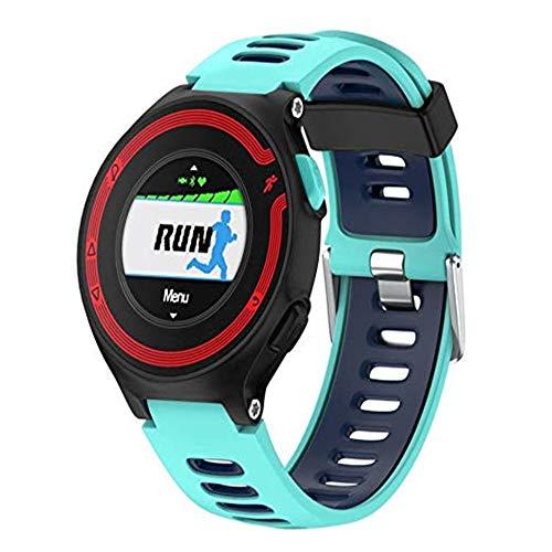 SUNEVEN Garmin Forerunner Ersatz-Bänder, weiches Silikon Zubehör Armband Uhrenarmband für Garmin Forerunner 235/230/630/220/620/735XT GPS Laufuhr, mintgrün
