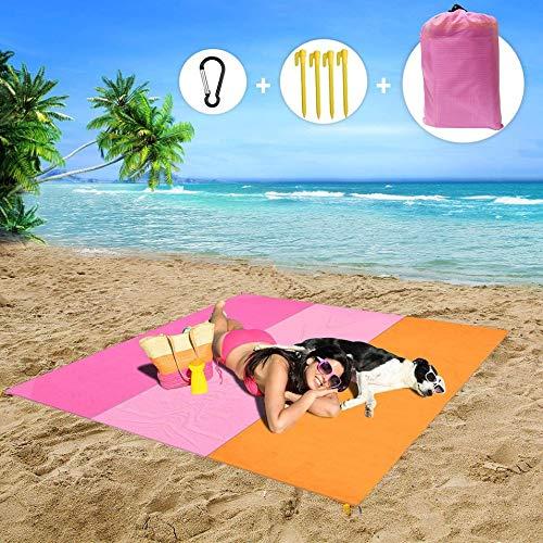 Alfombra de Playa, Portátil Alfombras de Picnic para La Playa, Acampar, Picnic y Otra Actividad Manta de Picnic Esterilla Playa (Color : A, Size : 210 * 200cm)