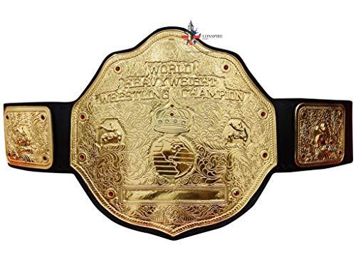 ADN Big Gold World Heavyweight Championship Wrestling Titel Gürtel in 4 mm Zinkplatten