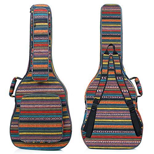 CAHAYA Acoustic Guitar Bag with Neck Cradle Bohemian Vintage Guitar Case 0.65in Thick Sponge Padded Guitar Case for 40 41 42 Inch Acoustic Classical Guitars