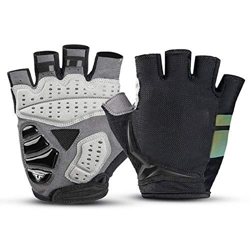 Antideslizante y transpirable Guantes antideslizantes guantes de bici Gimnasio carretera de montaña con amortiguador de los guantes del gel del cojín de peso ligero y transpirable MTB guantes de bicic