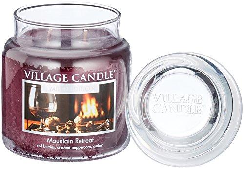 Village Candle Gebirgsstille Duftkerze im Glas, 454 g, Lila, 9.7 x 9.5 x 10.9 cm