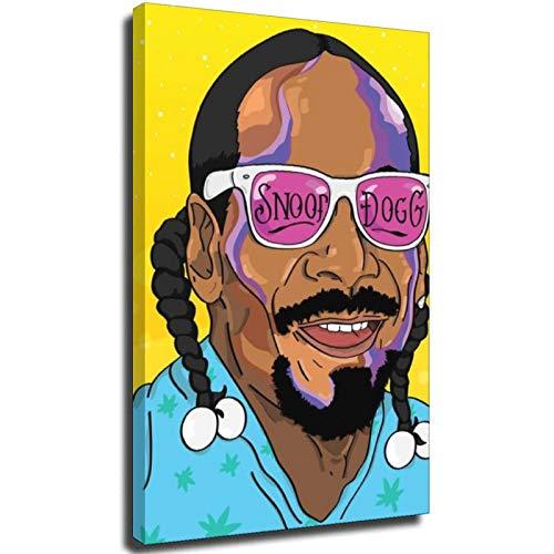 Snoop Dogg Canvas Stampato Pittura Wall Art Poster Stampe per la decorazione domestica Boho Style Wall Art Poster l'immagine è dipinta su tela decorazione 32 × 48 pollici (80 × 120cm ) Senza corn