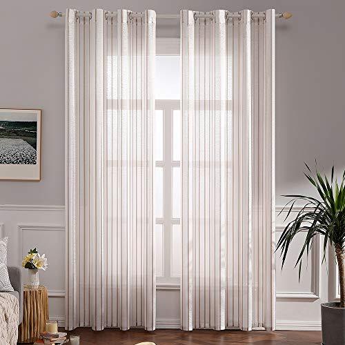 cortinas salon 2 piezas marron