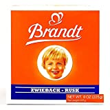 Brandt Zwieback 8 oz each (2 Items Per Order)