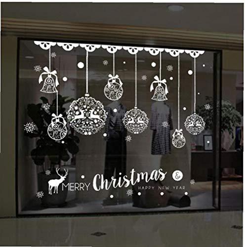 Dorime Navidad Etiquetas en Las Ventanas Etiqueta de la Pared decoración Colgando Colgante de Cristal Bola de...